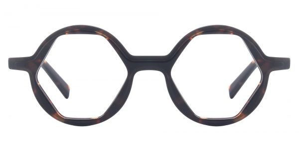 Hexagon Round eyeglasses
