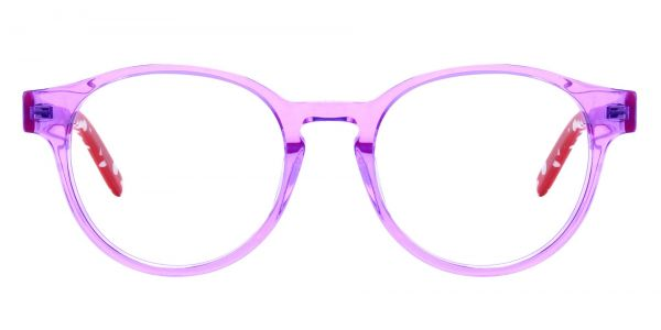 Harrison Round Prescription Glasses - Purple