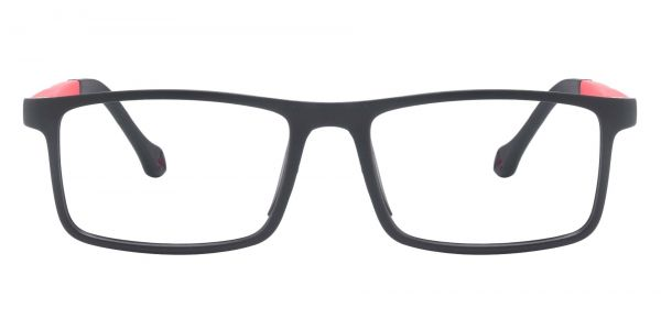 Charter Rectangle Prescription Glasses - Black