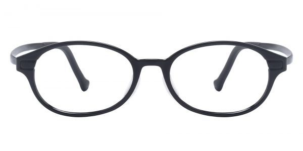 Taylor Oval Prescription Glasses - Black