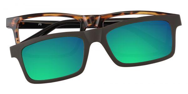 Inman Rectangle Prescription Glasses - Tortoise