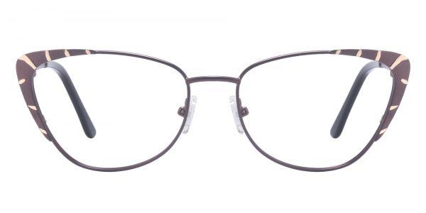 Gabrielle Cat Eye Prescription Glasses - Brown