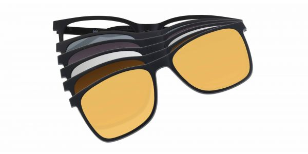 Salem Rectangle Prescription Glasses - Black