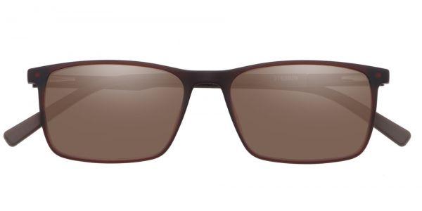 Helga Rectangle Prescription Glasses - Brown-1