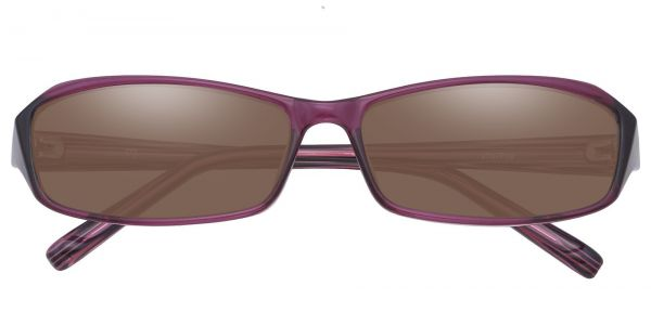 Wilson Rectangle Prescription Glasses - Purple