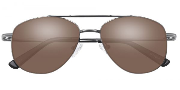 Dwight Aviator Prescription Glasses - Gray-1