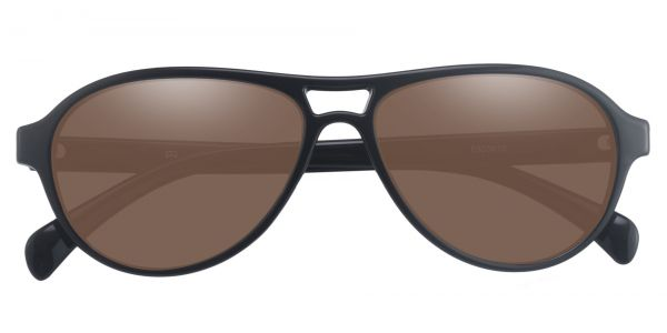 Sosa Aviator Prescription Glasses - Black-2