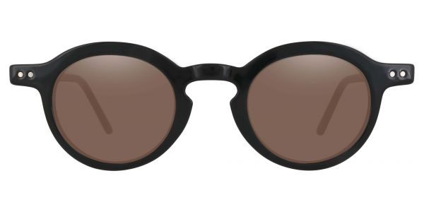 Moonshine Round Prescription Glasses - Black