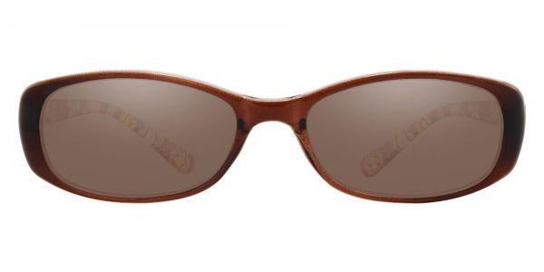 Bethesda Rectangle Prescription Glasses - Brown-1