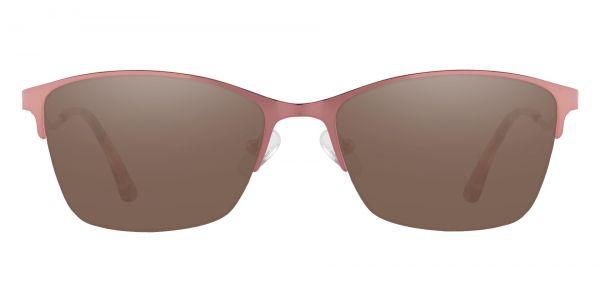 Milan Browline Prescription Glasses - Pink-1