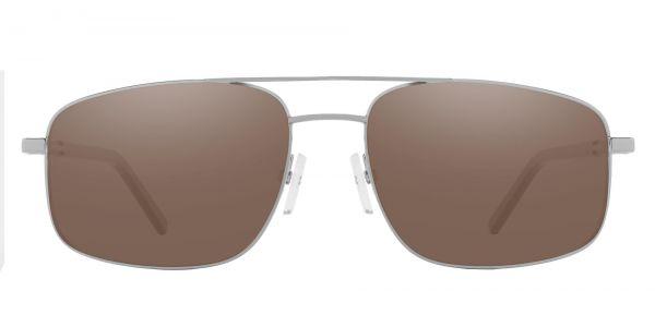 Davenport Aviator Prescription Glasses - Silver-1