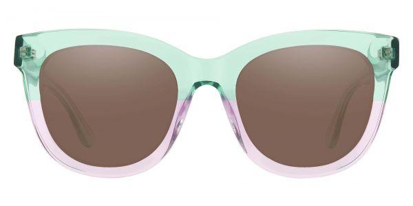 Delphi Square Prescription Glasses - Green-1
