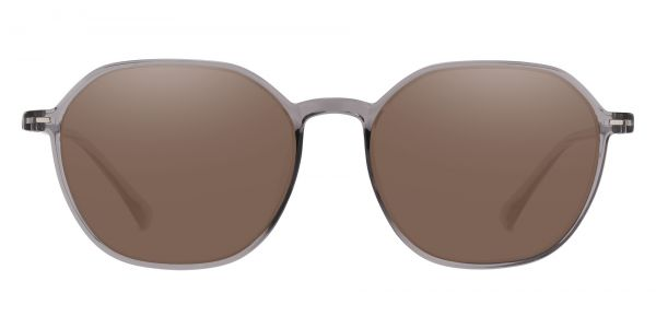 Detroit Geometric Prescription Glasses - Gray-1