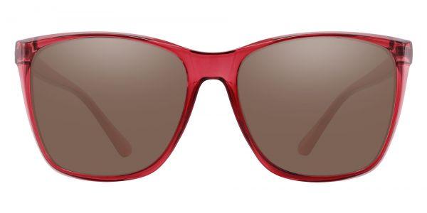 Taryn Square Prescription Glasses - Red-1