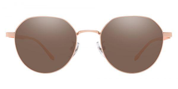 Beatrice Geometric Prescription Glasses - Gold-1