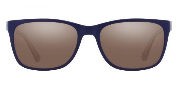 Lodge Rectangle Prescription Glasses - Blue-1