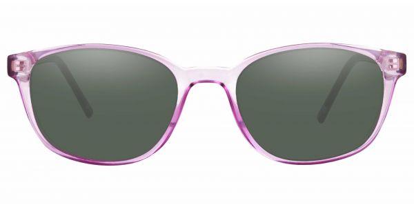 Branson Rectangle Prescription Glasses - Purple-2