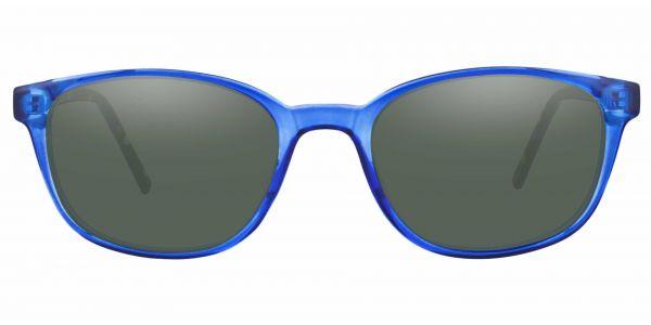 Branson Rectangle Prescription Glasses - Blue-2
