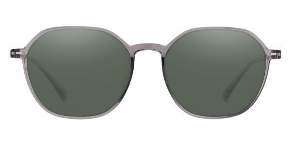Detroit Geometric Prescription Glasses - Gray-2