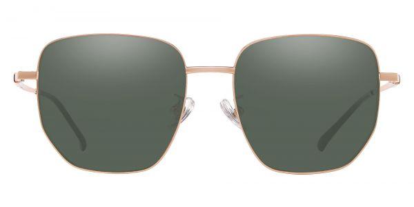 Swayze Geometric Prescription Glasses - Gold-2
