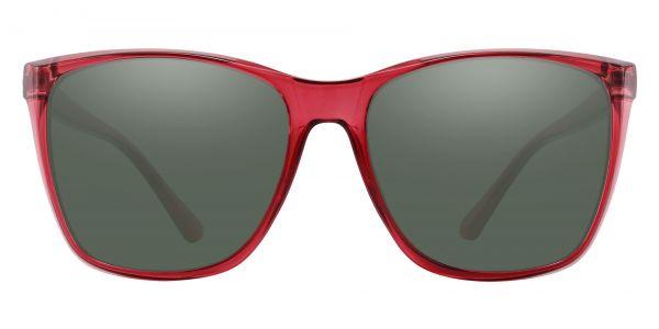 Taryn Square Prescription Glasses - Red-2