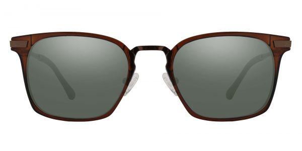 Jefferson Rectangle Prescription Glasses - Brown-2