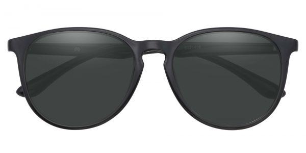 Maple Oversized Oval Prescription Glasses - Black
