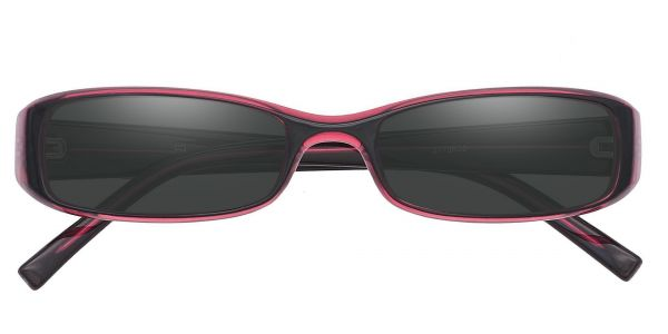 Veronica Rectangle Prescription Glasses - Red
