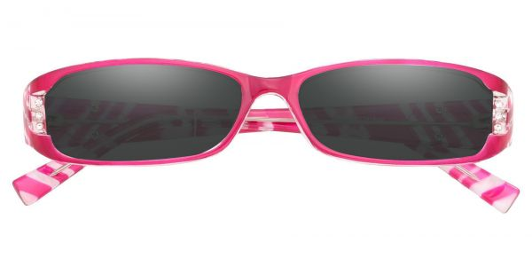 Kiki Rectangle Prescription Glasses - Pink