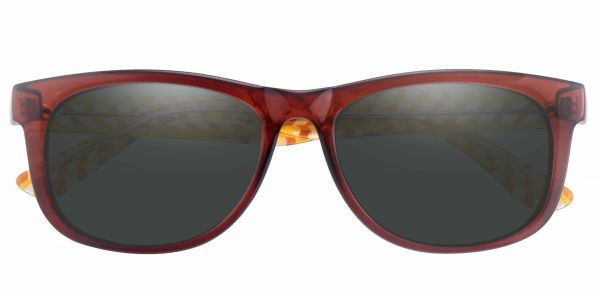 Bergamot Classic Square Prescription Glasses - Red