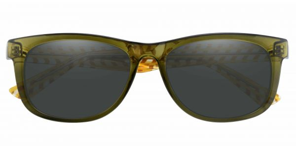 Bergamot Classic Square Prescription Glasses - Green