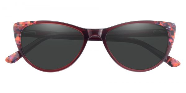 Plumeria Cat Eye Prescription Glasses - Red