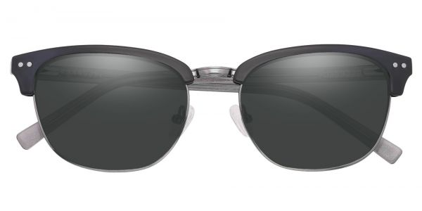 Monroe Browline Prescription Glasses - Gray