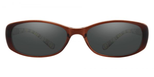 Bethesda Rectangle Prescription Glasses - Brown