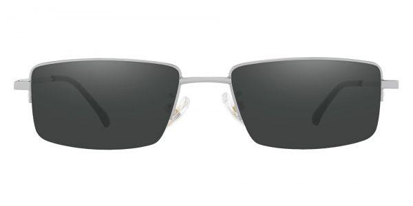 Waldo Rectangle Prescription Glasses - Silver