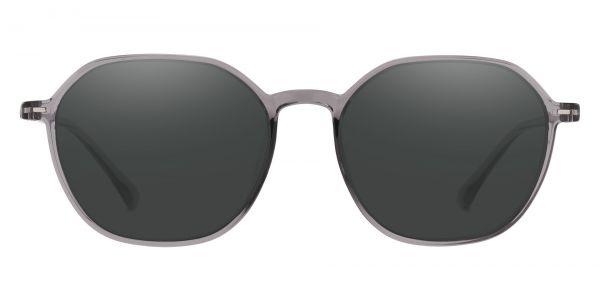 Detroit Geometric Prescription Glasses - Gray