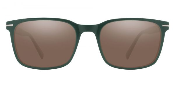 Rutherford Rectangle Prescription Glasses - Green-1