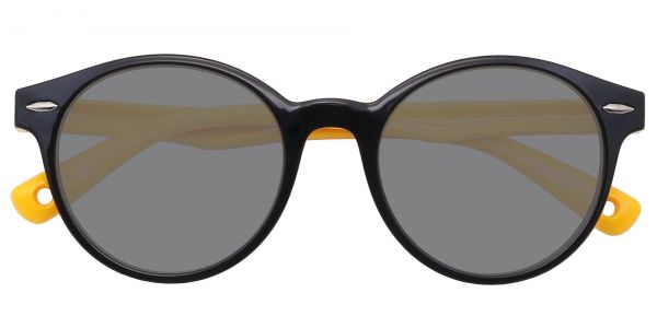 Harris Round Prescription Glasses - Black