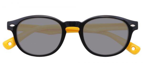 Carbon Round eyeglasses