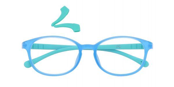 Sapphire Oval Eyeglasses For Kids