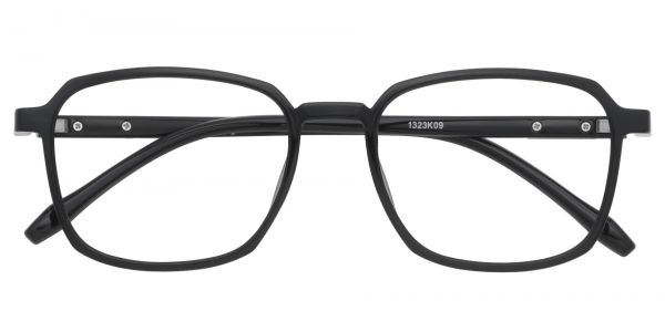 Stella Square Prescription Glasses - Black