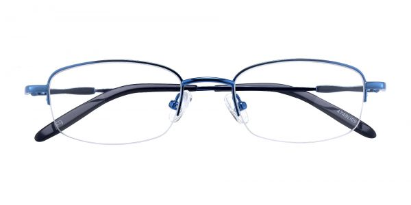 Bluff Rectangle Prescription Glasses - Blue