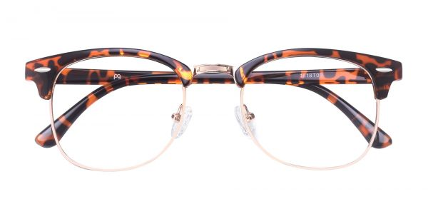 Salvatore Browline Prescription Glasses - Tortoise