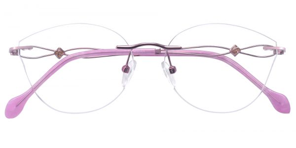 Teardrop Rimless eyeglasses