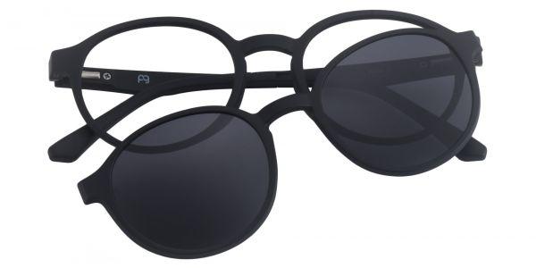 Amity Oval Prescription Glasses - Black