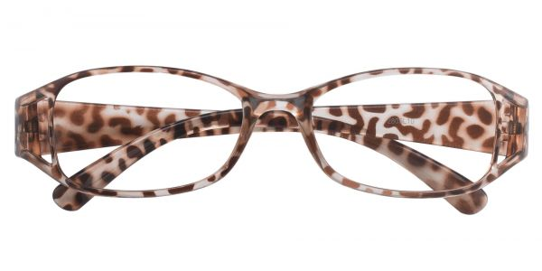 Libra Rectangle Prescription Glasses - Leopard