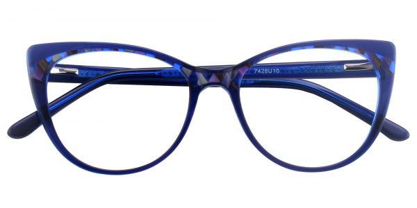 Cabernet Cat Eye Prescription Glasses - Blue