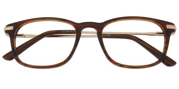 Elaine Rectangle Prescription Glasses - Brown