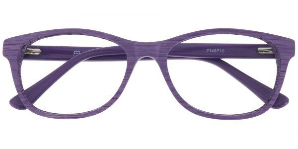 Grain Rectangle Prescription Glasses - Purple