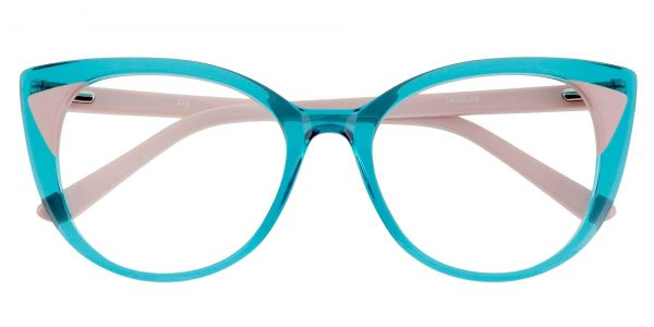 Juniper Oversized Cat Eye Prescription Glasses - Blue